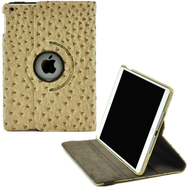 360 Degree Smart Rotary Leather Case for iPad (2018/2017) / iPad Air - Ostrich Beige