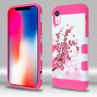 Military Grade TUFF Trooper Dual Layer Hybrid Armor Case for iPhone XR - Spring Flowers