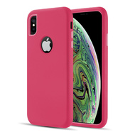 Dual Max Series Hybrid Armor Case for iPhone XS / X - Hot Pink