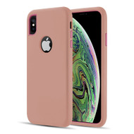 Dual Max Series Hybrid Armor Case for iPhone XS / X - Rose Gold Pink
