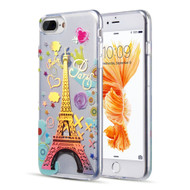 Decoration Series Holographic Printing Transparent Fusion Case for iPhone 8 Plus / 7 Plus / 6S Plus / 6 Plus - Eiffel Tower