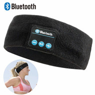Sweatband Bluetooth V4.0 Wireless Headband Design Headphones with Microphone - Black