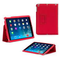 *SALE* Griffin Technology Slim Folio Smart Leather Case for iPad (2018/2017) / iPad Air - Red