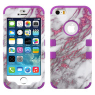 Military Grade Certified TUFF Image Hybrid Case for iPhone SE / 5S / 5 - Marble Pink