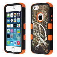 Military Grade Certified TUFF Hybrid Case for iPhone SE / 5S / 5 - Tree Camouflage Orange