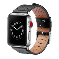 Perforated Genuine Leather Watch Band for Apple Watch 40mm / 38mm - Black
