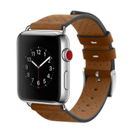 Perforated Genuine Leather Watch Band for Apple Watch 40mm / 38mm - Brown