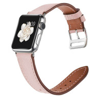 Genuine Leather Watch Band for Apple Watch 40mm / 38mm - Pink