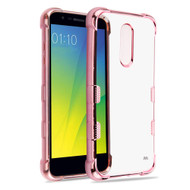 TUFF Klarity Electroplating Transparent Anti-Shock TPU Case for LG K30 - Rose Gold