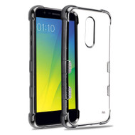 TUFF Klarity Electroplating Transparent Anti-Shock TPU Case for LG K30 - Gunmetal