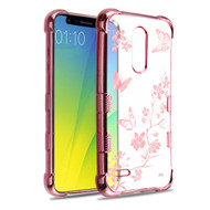 TUFF Klarity Electroplating Transparent Anti-Shock TPU Case for LG K30 - Butterflies in Spring