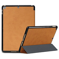 Premium Smart Leather Hybrid Case for iPad (2018/2017) / iPad Air - Brown