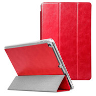 Premium Smart Leather Hybrid Case for iPad (2018/2017) / iPad Air - Red