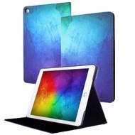 Book-Style Smart Leather Folio Case with Auto Sleep / Wake for iPad (2018/2017) / iPad Air - Galaxy