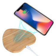 Bamboo Wireless Charger Qi Charging Pad - Heart