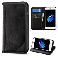 Mybat Genuine Leather Wallet Case for iPhone 8 / 7 - Black 004