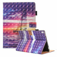 3D Illusion Book-Style Smart Leather Folio Case with Auto Sleep / Wake for iPad Pro 10.5 inch - Sailing