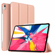 Smart Leather Hybrid Case with Auto Sleep/Wake Trifold Cover for iPad Pro 11 inch - Rose Gold