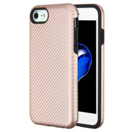 Carbon Fiber Hybrid Case for iPhone 8 / 7 / 6S / 6 - Rose Gold