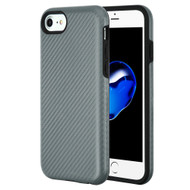 Carbon Fiber Hybrid Case for iPhone 8 / 7 / 6S / 6 - Grey