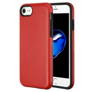 Carbon Fiber Hybrid Case for iPhone 8 / 7 / 6S / 6 - Red