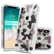 Military Grade Certified TUFF Lucid Transparent Hybrid Armor Case for iPhone XS Max - Urban Camouflage