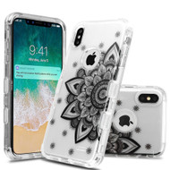 Military Grade Certified TUFF Lucid Transparent Hybrid Armor Case for iPhone XS Max - Classic Mandala