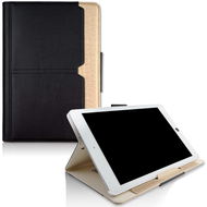 Book-Style 360 Degree Smart Rotating Leather Case for iPad Pro 12.9 inch (1st and 2nd Generation) - Black Gold