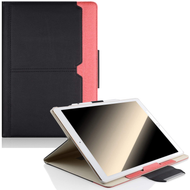 Book-Style 360 Degree Smart Rotating Leather Case for iPad Pro 12.9 inch (1st and 2nd Generation) - Black Coral