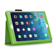 Leather Portfolio Smart Case for iPad (2018/2017) / iPad Air - Green