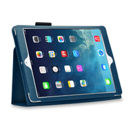 Leather Portfolio Smart Case for iPad (2018/2017) / iPad Air - Navy Blue