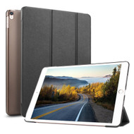 Smart Leather Hybrid Case with Translucent Back Cover and Screen Protector for iPad Pro 10.5 inch - Black