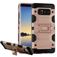 Military Grade Certified Storm Tank Hybrid Armor Case with Stand for Samsung Galaxy Note 8 - Rose Gold