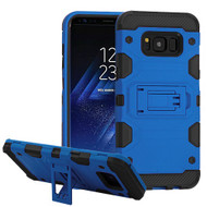 Military Grade Certified Storm Tank Hybrid Armor Case with Stand for Samsung Galaxy S8 Plus - Blue