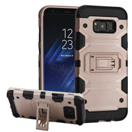 Military Grade Certified Storm Tank Hybrid Armor Case with Stand for Samsung Galaxy S8 Plus - Rose Gold