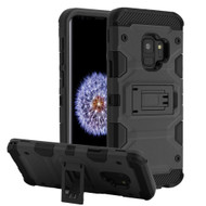 Military Grade Certified Storm Tank Hybrid Armor Case with Stand for Samsung Galaxy S9 - Black