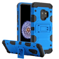 Military Grade Certified Storm Tank Hybrid Armor Case with Stand for Samsung Galaxy S9 - Blue