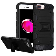 Military Grade Certified Storm Tank Hybrid Armor Case with Stand for iPhone 8 Plus / 7 Plus / 6S Plus / 6 Plus - Black