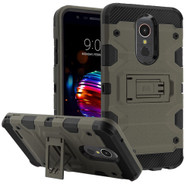 Military Grade Certified Storm Tank Hybrid Armor Case with Stand for LG K30 - Dark Grey