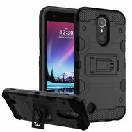 Military Grade Certified Storm Tank Hybrid Armor Case with Stand for LG K20 Plus / K20 V / K10 (2017) / Harmony - Black