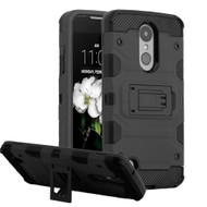 Military Grade Certified Storm Tank Hybrid Armor Case for LG Aristo 2 / Fortune 2 / Tribute Dynasty / Zone 4 - Black