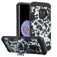 Military Grade Certified Storm Tank Hybrid Armor Case with Stand for Samsung Galaxy S9 - Camouflage