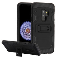 Military Grade Certified Storm Tank Hybrid Armor Case with Stand for Samsung Galaxy S9 Plus - Black