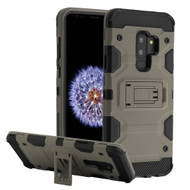 Military Grade Certified Storm Tank Hybrid Armor Case with Stand for Samsung Galaxy S9 Plus - Grey