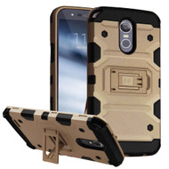 Military Grade Certified Storm Tank Hybrid Armor Case with Stand for LG Stylo 3 / Stylo 3 Plus - Gold