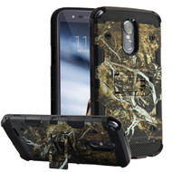 Military Grade Certified Storm Tank Hybrid Armor Case with Stand for LG Stylo 3 / Stylo 3 Plus - Tree Camouflage