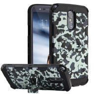 Military Grade Certified Storm Tank Hybrid Armor Case with Stand for LG Stylo 3 / Stylo 3 Plus - Camouflage