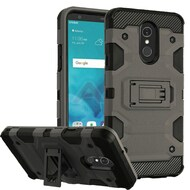 Military Grade Certified Storm Tank Hybrid Armor Case with Stand for LG Stylo 4 - Grey