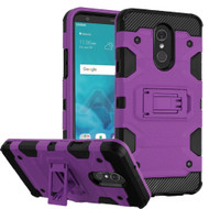 Military Grade Certified Storm Tank Hybrid Armor Case with Stand for LG Stylo 4 - Purple