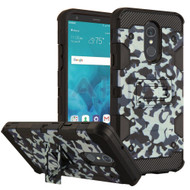 Military Grade Certified Storm Tank Hybrid Armor Case with Stand for LG Stylo 4 - Camouflage